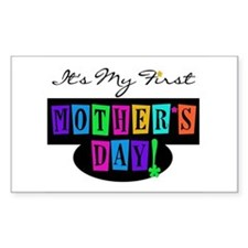 My First Mother's Day Rectangle Decal