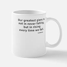 Greatest glory falling rising - black Mugs