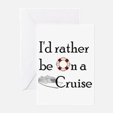 I'd Rather Cruise Greeting Cards (Pk of 20)