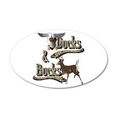 Ducks And Bucks 22x14 Oval Wall Peel