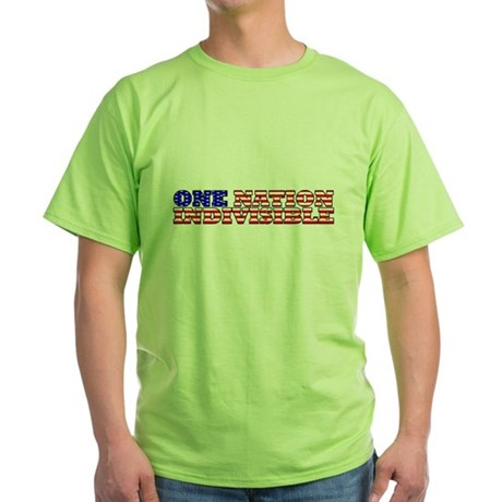 one nation indivisible Green T-Shirt