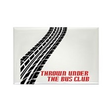 Thrown Under the Bus Club Rectangle Magnet