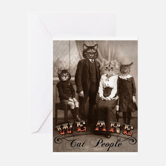 Cat People Greeting Card