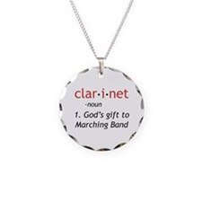 Clarinet Definition Necklace Circle Charm