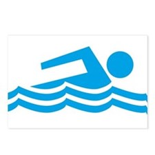 Swimmer Postcards (Package of 8)