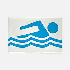 Swimmer Rectangle Magnet (100 pack)