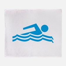 Swimmer Throw Blanket