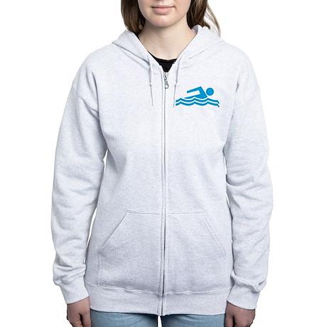 Swimmer Women's Zip Hoodie