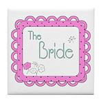Portrait Bride Tile Coaster