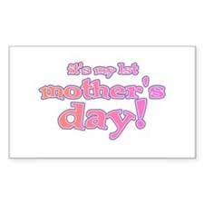 1st Mother's Day Rectangle Decal