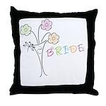 Butterfly Flower Bride Throw Pillow