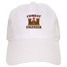 US Army Combat Engineer Gold Baseball Cap