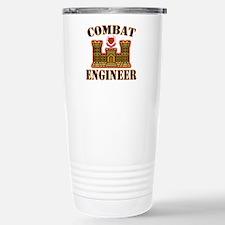 US Army Combat Engineer Gold Travel Mug