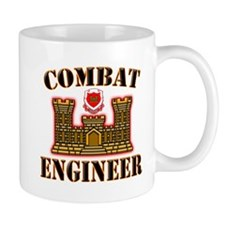 US Army Combat Engineer Gold Mug