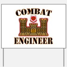 US Army Combat Engineer Gold Yard Sign