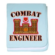 US Army Combat Engineer Gold baby blanket