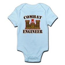US Army Combat Engineer Gold Infant Bodysuit