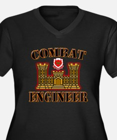 US Army Combat Engineer Gold Women's Plus Size V-N
