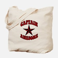 Captain Awesome Star Tote Bag