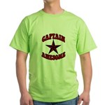 Captain Awesome Star Green T-Shirt