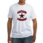 Captain Awesome Star Fitted T-Shirt