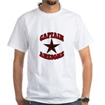 Captain Awesome Star White T-Shirt
