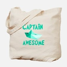 Captain Awesome Boat Tote Bag