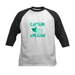 Captain Awesome Boat Kids Baseball Jersey