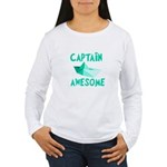Captain Awesome Boat Women's Long Sleeve T-Shirt