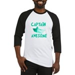 Captain Awesome Boat Baseball Jersey