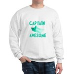 Captain Awesome Boat Sweatshirt
