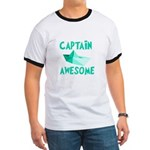 Captain Awesome Boat Ringer T