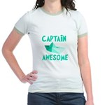 Captain Awesome Boat Jr. Ringer T-Shirt