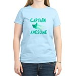 Captain Awesome Boat Women's Light T-Shirt