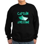 Captain Awesome Boat Sweatshirt (dark)