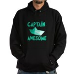 Captain Awesome Boat Hoodie (dark)