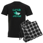 Captain Awesome Boat Men's Dark Pajamas
