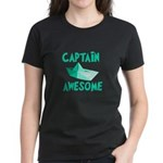 Captain Awesome Boat Women's Dark T-Shirt
