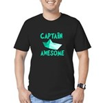 Captain Awesome Boat Men's Fitted T-Shirt (dark)