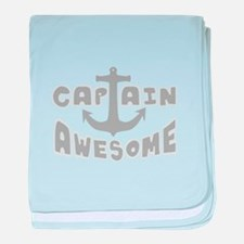 Captain Awesome Anchor baby blanket
