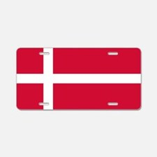 Flag of Denmark Aluminum License Plate