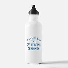 AA Cat Herding Champion Water Bottle