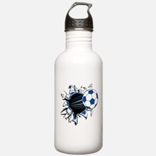 Soccer Ball Burst Sports Water Bottle