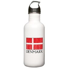 Denmark Flag Water Bottle