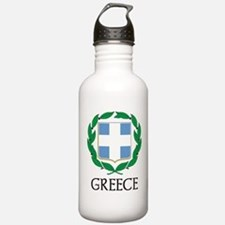 Greece Coat of Arms Sports Water Bottle