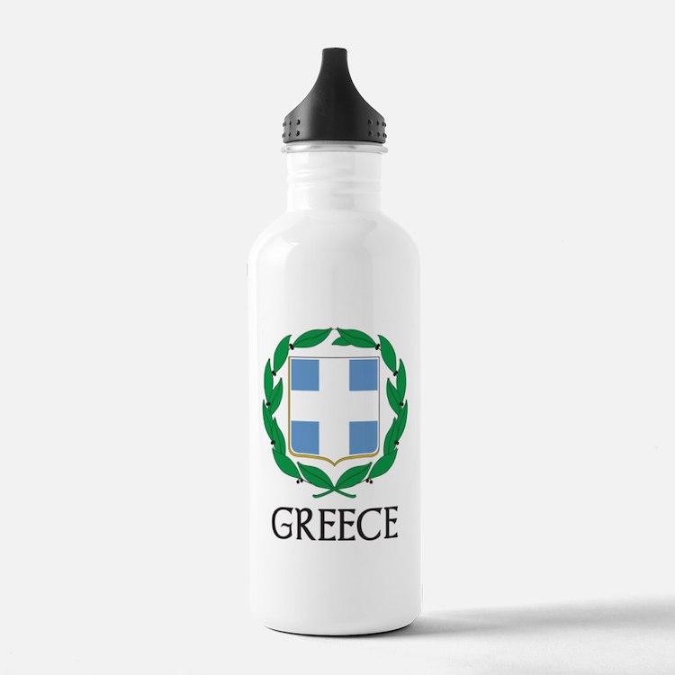Greece Coat of Arms Sports Water Bottle