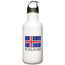 Iceland Flag Water Bottle