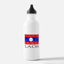 Laos Flag Water Bottle