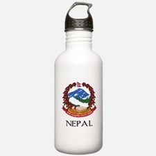 Nepal Coat of Arms Water Bottle