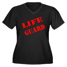 Cute Beach patrol Women's Plus Size V-Neck Dark T-Shirt